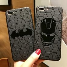 Marvel Мстители матовый Силиконовый чехол для iPhone 11 pro X XS Max XR 6 6s 7 8 Plus Супермен Siperman Капитан Америка, Железный человек