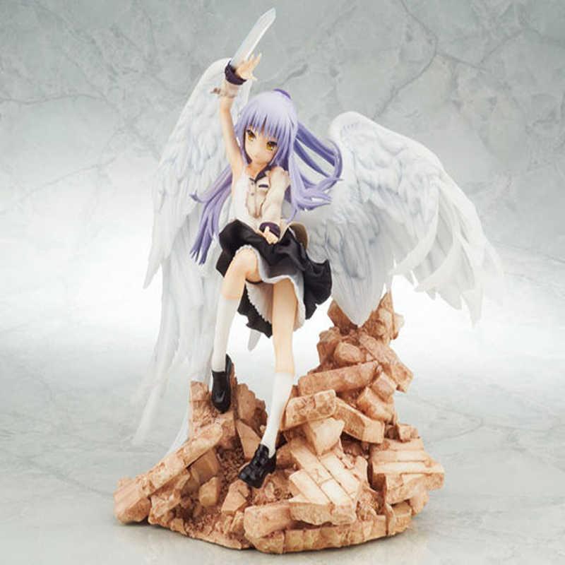 Japão Anime Estatueta Anjo Tachibana Kanade Montanha Chassis PVC Action Figure Coleção Modelo Brinquedos Boneca