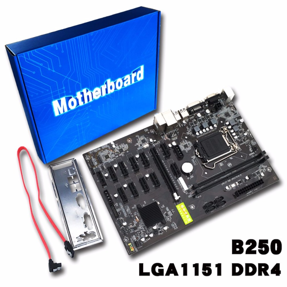 Tabla de minería Minería B250 Motherboard Tarjeta de Vídeo Interfaz Soporta GTX 1050TI 1060TI Diseñado Para Crypto Minería Bitcoin BTC