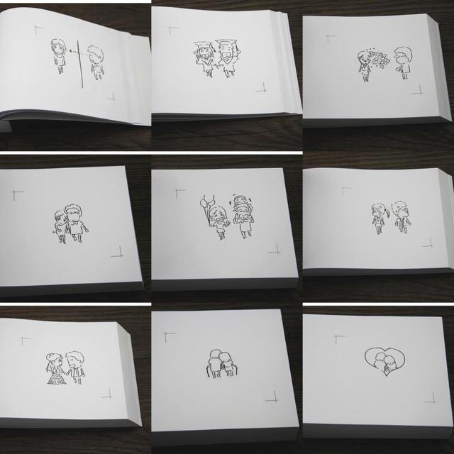Diy Confession Flipbook Animation Animation Romantic Birthday Gift