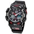 2017 Moda de Nueva Marca Relojes Hombres Estilo Impermeable Reloj Militar Deportes S Choque hombres de Lujo de Cuarzo Analógico LED Digital relojes