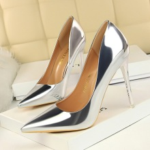 Wedding Women's Pumps High Heels Shoes Silver 10CM Fashion 2019 Summer Women Ladies Female Shoes Sexy Office Career Pumps