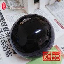 Черный акриловый шар, 8 см, 340 г, 80 мм, черный шар для жонглирования(3,15 дюйма), магические трюки, контактный шар