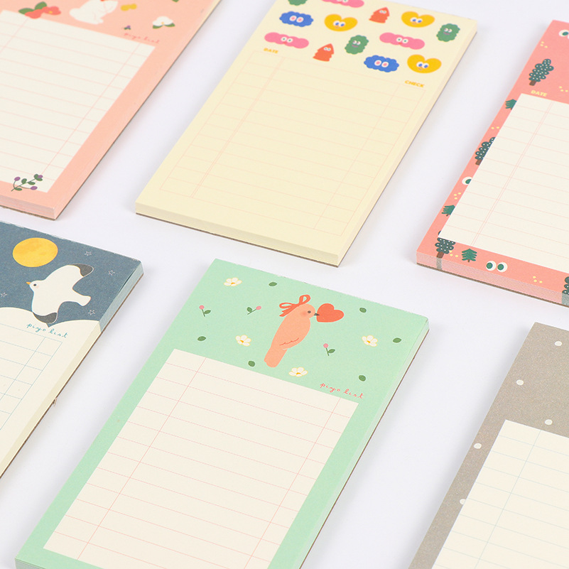 1pcs Cute Cartoon N Times Sticky Notes Small fresh Memo Pad Paper Sticker Post It Notepad Gift Office Stationery BLT05