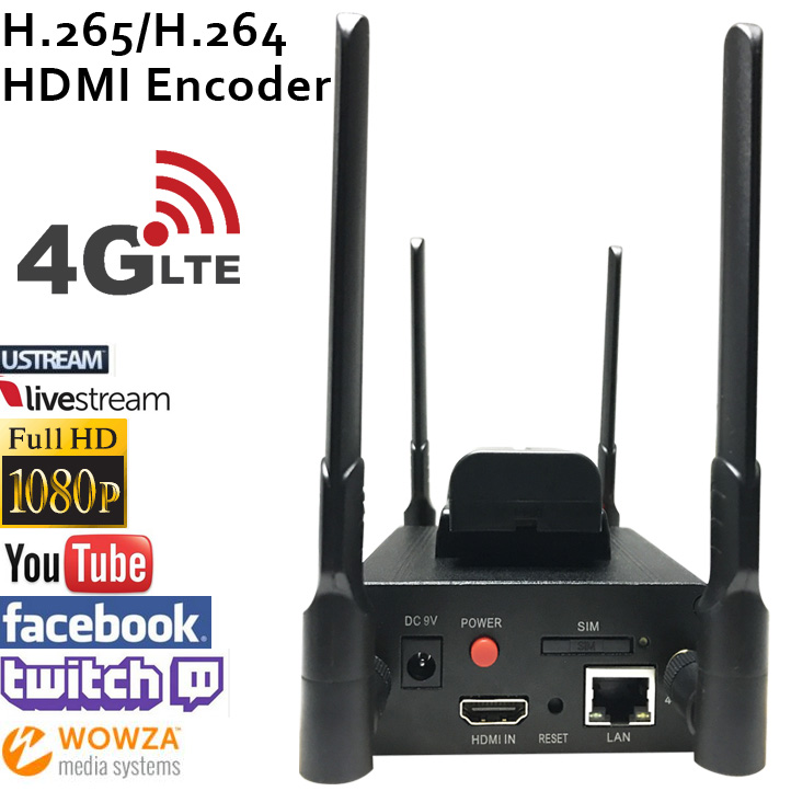 H.265 HEVC/H.264 AVC 4G LTE  HDMI Video Encoder HDMI Transmitter live Broadcast encoder wireless H264 iptv encoder h 265 iptv encoder hdmi video encoder hdmi encoder live stream broadcast works with wowza xtream codes youtube