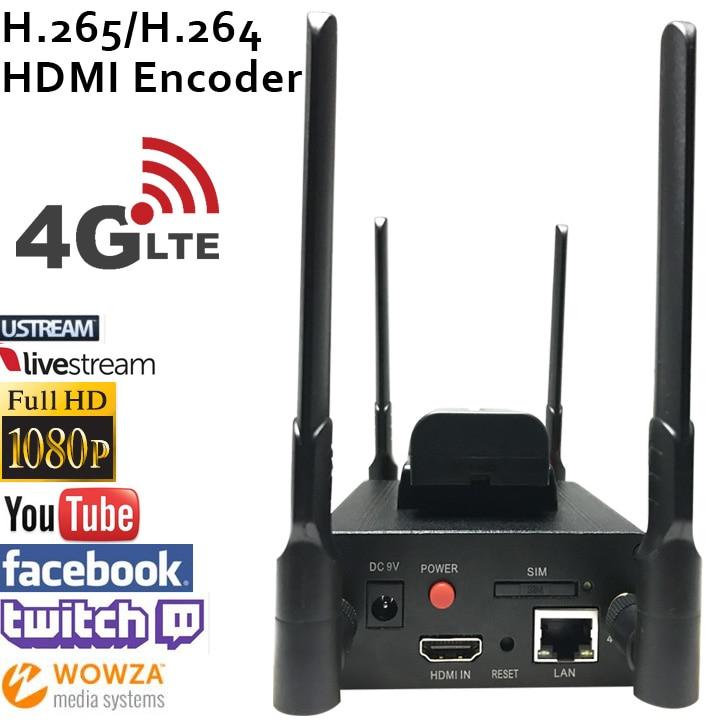 H.265 HEVC/H.264 AVC 4G LTE  HDMI Video Encoder HDMI Transmitter live Broadcast encoder wireless H264 iptv encoder h 264 mpeg 4 avc hdmi to dvb c encoder modulator with http rtsp rtmp hls