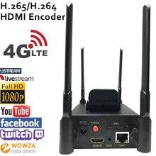 H.265 HEVC/H.264 AVC 4G LTE HDMI Codificador De Vídeo HDMI Transmissor Transmissão ao vivo iptv codificador codificador H264 sem fio