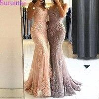 Glamorous Sweetheart Spaghetti Straps Mermaid Evening Dresses Lace Appliques Prom Party Dresses Formal Dresses Vestidos De