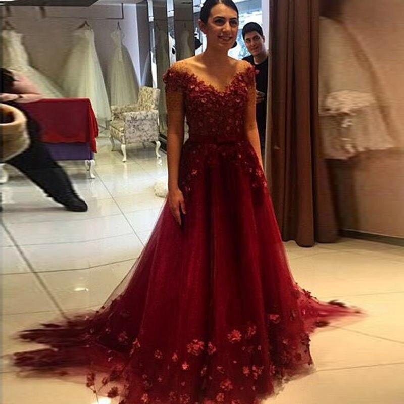 Glamorous Formal Dresses Long Evening Gowns V Neck Floor Length ...