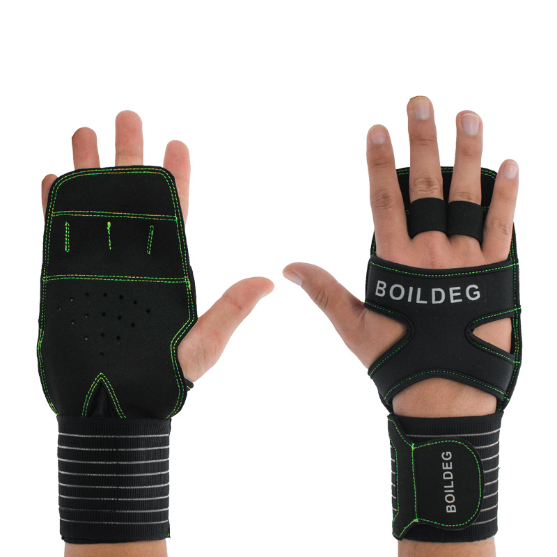2017 New Boodun Weight Lifting Gloves Home Gym Fitness Bodybuilding Gloves palm care wear anti-slip for Dumbbell Horizontal Bar