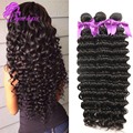 10A Unprocessed Brazilian Deep Wave Virgin Hair 4Pcs/Lot Brazilian Hair Weave Bundles soft human hair Cheap brazilian deep wave