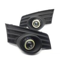 Для Защитные чехлы для сидений, сшитые специально для Great Wall Hover H3 2009 2011 белый Ангельские глазки DRL желтый световой сигнал H11 галогенные/Ксено