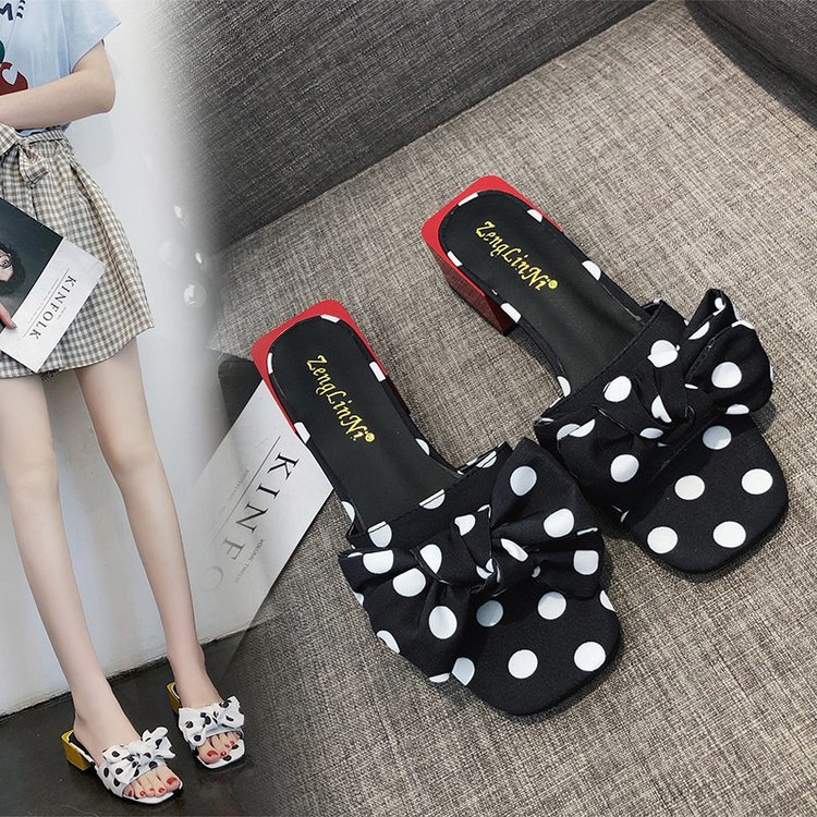 2019 new fashion sexy high-heeled sandals female summer wear wave point lotus leaf thick with slippers ladies fish mouth shoes2019 new fashion sexy high-heeled sandals female summer wear wave point lotus leaf thick with slippers ladies fish mouth shoes