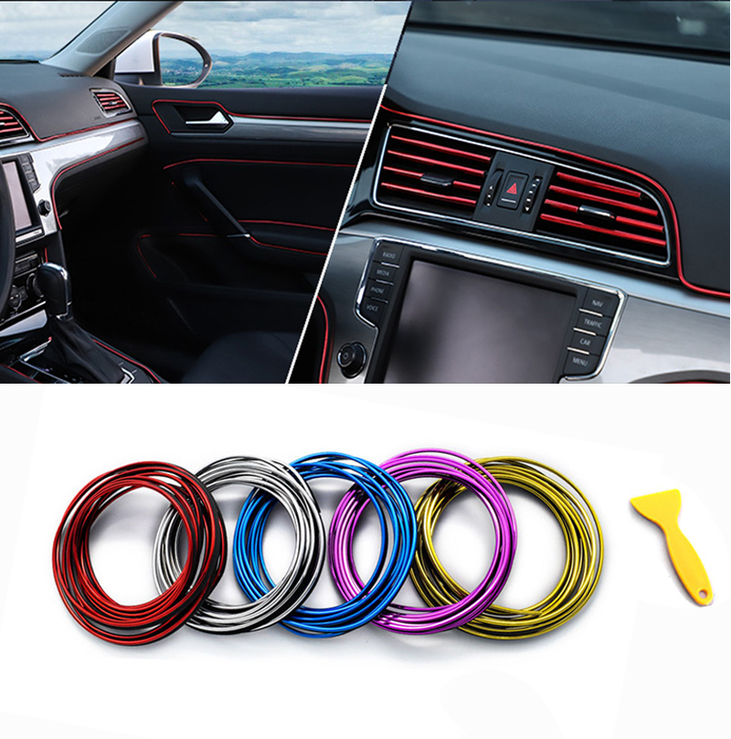 Flexible Car Seal 3/5M Moulding Trim Strip Interior Detachable Gap Decoration Protector PVC For Auto Car Dashboard Panel Edge
