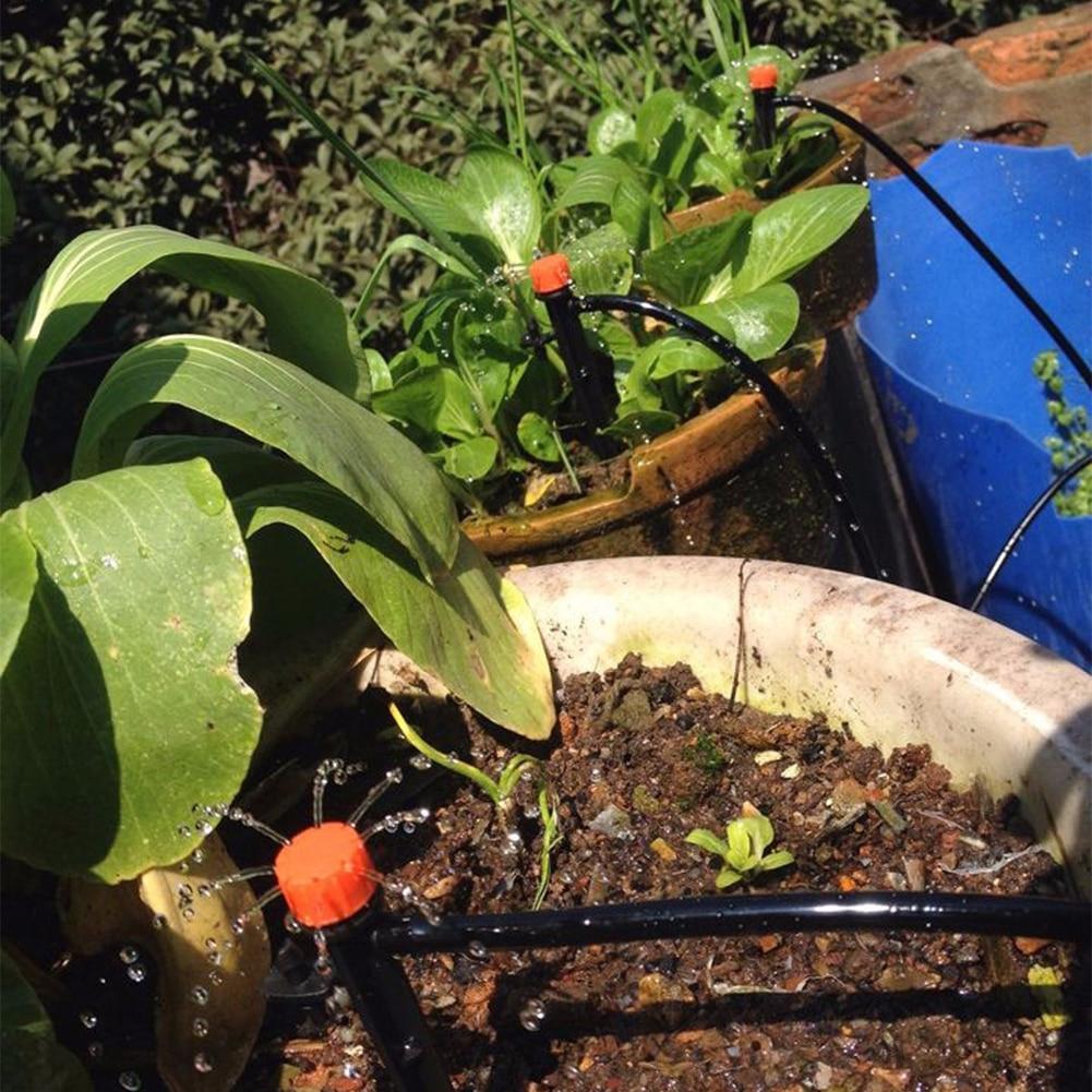 5M 15M 25M sistema de riego por goteo de automontaje de riego automático manguera de jardín Micro goteo juegos para regar el jardín con Drippers ajustables