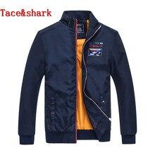 Brand clothing Tace&shark male Winter Jacket zipper Embroidery Long sleeve Loose coat billionaire Fashionable Jacket