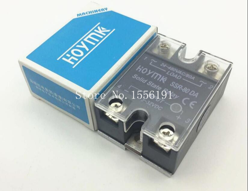 HOYMK SSR-80DA 80A Single phase dc solid state relay control communication relay solid state Resistance Regulator normally open single phase solid state relay ssr mgr 1 d48120 120a control dc ac 24 480v
