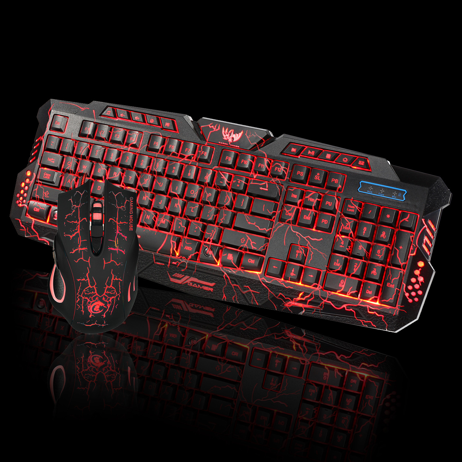 OMESHIN LED Gaming Keyboard Changeable With Color Luminous Multimedia Ergonomic Gaming Keyboard And Mouse Set For Gamer Computer