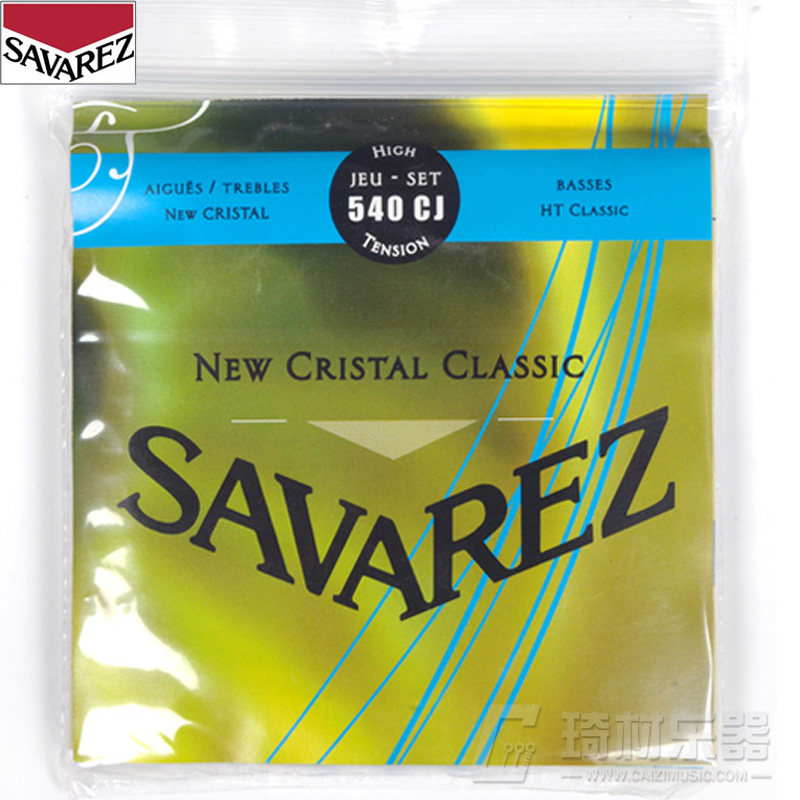Savarez New Cristal/HT Classic HT Classical Guitar Strings Full Set 540CJ original savarez 500cj classical guitar strings full set nylon strings high tension free shipping