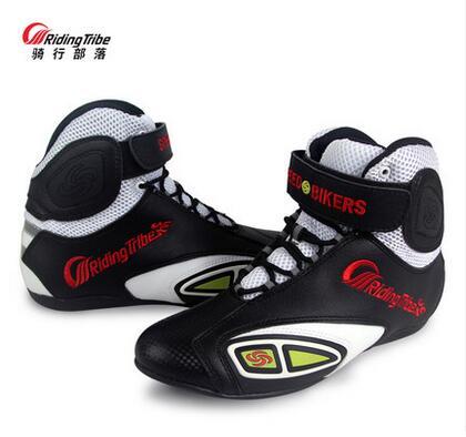 Ratsastuksen heimojen valon kyydissä kengät neljä vuodenaikaa miesten ja naisten kesällä kilpajalkineet saappaat hengittävä moottoripyörä moottoripyörä kengät