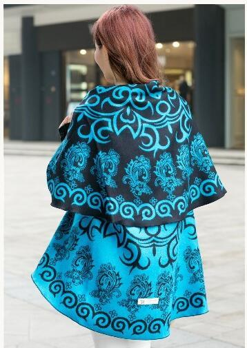 Big brand new lady national wind shawl cape Round shape thick cashmere shawl scarf ladies spring and autumn winter gift