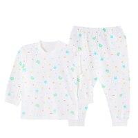 SlinBo Spring Brand Kids Thermal Underwears 100 Cotton Print Warm Children S Clothing Unisex Baby Boys