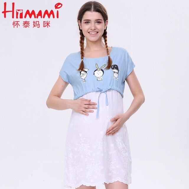 d8a2fdc8e Traje de verano Maternidad enfermería Vestidos ropa para amamantar para  mujeres embarazadas embarazo lactancia materna Camiseta