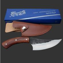 Pure handmade HUNTING KNIFE handmade High carbon steel pattern cutter outdoor knife survival knife sharpknife collection process