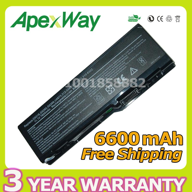 apexway 6600mah battery for dell inspiron 6000 9400 xps m1710 m6300 rh aliexpress com Dell XPS M2010 Dell XPS M1730