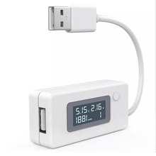 цена на White Micro USB Charger Battery Capacity Voltage Current Tester Meter Detector with LCD for Mobile Smartphone Power Bank