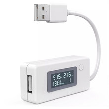 White Micro USB Charger Battery Capacity Voltage Current Tester Meter Detector with LCD for Mobile Smartphone Power Bank(China)