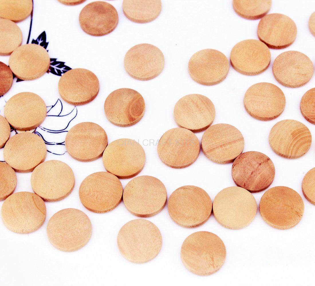 800 шт. 12 мм реального запечатаны дерева Круглый Кабошон-камень природный светло-коричневого цвета без прикрас D15