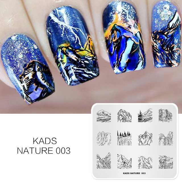 Kads Nature 003 Nail Printer Nail Art Stamping Plates Manicure