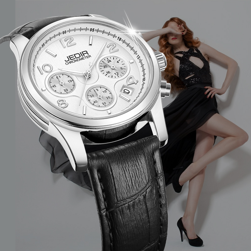 2018 Luxury Brand Ladies Watch Chronograph Fashion Genuine Leather Wrist Quartz Girl Watch for Women Lovers Dress Watches Clock