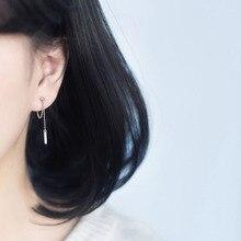 Korean Earrings Silver/Golden S925 Fashion Jewelry Women Dangle Earring Chain 925 Sterling Silver Girls Gift pendientes brincos
