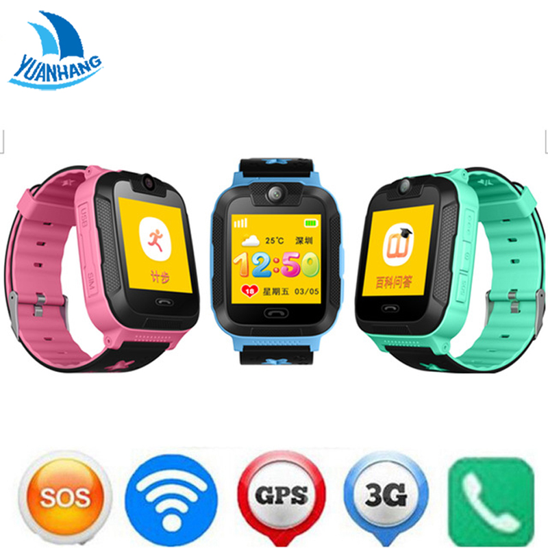 YH Kids Safe Smart  3G GPRS GPS Locator Tracker Wristwatch Child Baby SOS Remote Monitor Camera Watch for IOS Android Smartphone mictrack advanced 3g personal tracker mt510 for kids elderly 2 way voice sos 3d sensor support wcdma umts 850 2100mhz