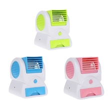 Mini USB Fan Cooling Portable Portable Desktop Dual Bladeless Small Air Conditioner Fans Air Cooling Fan air conditioning