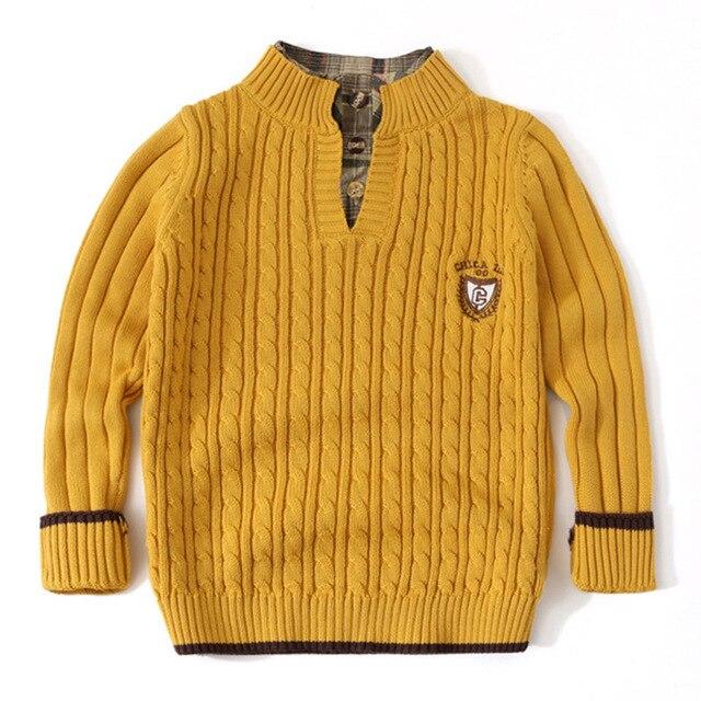 Jersey para adolescente, ropa de punto, cárdigan de manga larga para niño y adolescente, suéter para niño pequeño, Tops blancos para niño de 3 a 12 años