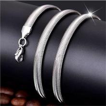 316L нержавеющая сталь 4 мм 6 мм плоская цепочка в виде змеи ожерелье Модные украшения для мужчин и женщин длина 50-70 см Прямая поставка