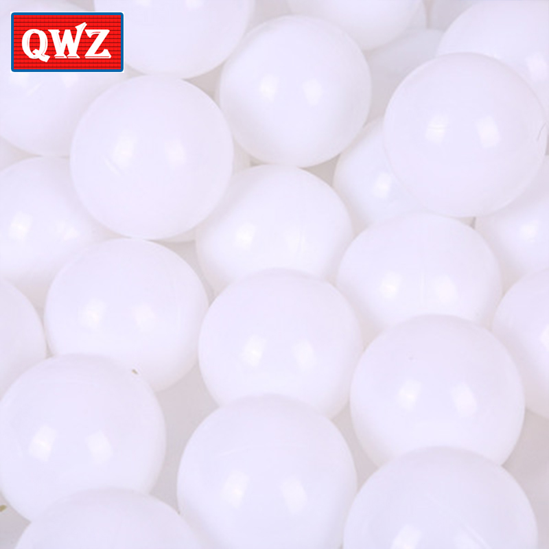 QWZ 100pcs 5.5cm White Environmental Protection Ocean Ball Baby Swimming Water Pool Soft Plastic Ocean Wave Ball Thickening Toys