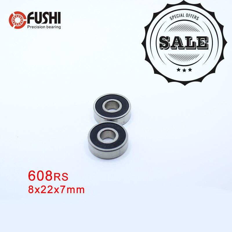 Miniature 608 RS RZ Ball Bearings 608-2RS 5PCS 608RS Bearing 8x22x7mm ABEC-5