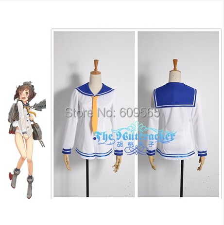 Free Shipping! Kantai Collection Kancolle Fleet Girls Kagero Destroyer Yukikaze Cosplay Costume ,Perfect Custom For you!
