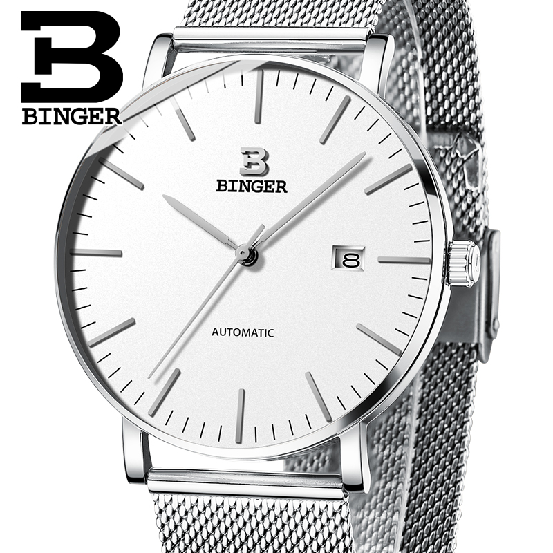 Switzerland BINGER Mens Watches Luxury Brand automatic mechanical Men Watch Sapphire Male Japan Movement reloj hombre B-5081M-12 wrist waterproof mens watches top brand luxury switzerland automatic mechanical men watch sapphire military reloj hombre b6036