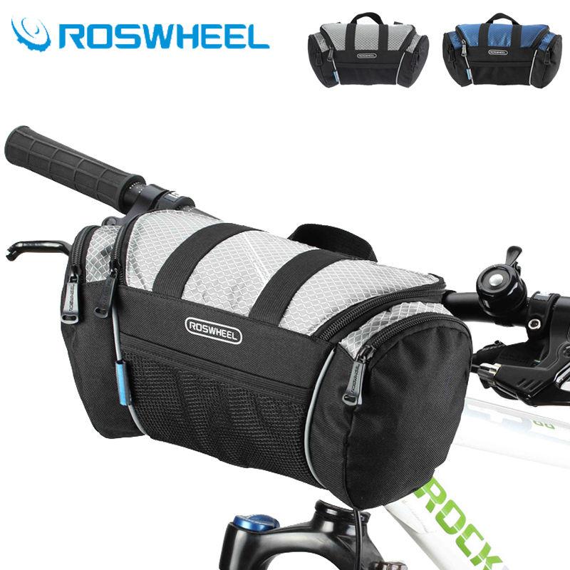 ROSWHEEL 5L Bike Bicycle Cycling Bag Handlebar Front Tube Pannier Basket Shoulder Pack
