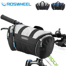 цена на ROSWHEEL 5L Bike Bicycle Cycling Bag Handlebar Front Tube Pannier Basket Shoulder Pack