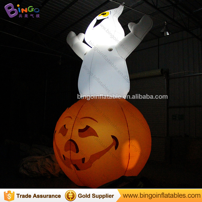 2018 Hot sale 5M LED lighting inflatable ghost and pumpkin for Halloween decoration blow up ghost cushaw balloon for party toys2018 Hot sale 5M LED lighting inflatable ghost and pumpkin for Halloween decoration blow up ghost cushaw balloon for party toys