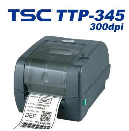 TSC thermal barcode ribbon printer TTP-345 Hang tags jewelry tags label printer high quality 300dpi sticker printer machine newest original print head compatibility with tsc ttp247 barcode label printer