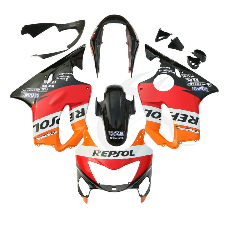 Injection ABS Fairing Bodywork Kit For Honda CBR600F4 CBR 600 F4 99 00 Repsol 4A hot sales yzf600 r6 08 14 set for yamaha r6 fairing kit 2008 2014 red and white bodywork fairings injection molding