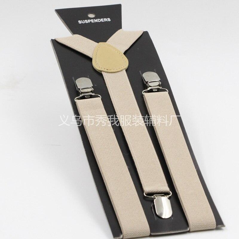 2,5x100 Cm Erwachsene Hosenträger Y-zurück Einstellbare Clip-on Elastic Suspender Kinder Gürtel Strap Wählen Farben, 500 StÜcke