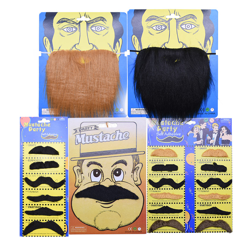Creative Funny Costume Pirate Party Mustache Cosplay Fake Moustache  Beard For Halloween Kids Adult Decoration Photo Props